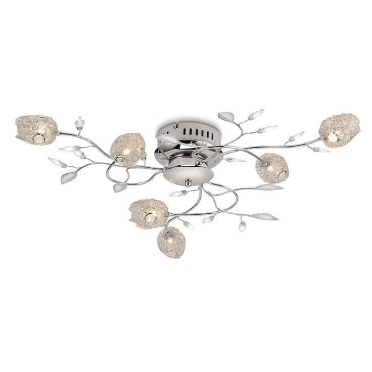 Leuchten Direkt Deckenleuchte Mab B Silber Chrom,Alu,Nickel,Stahl