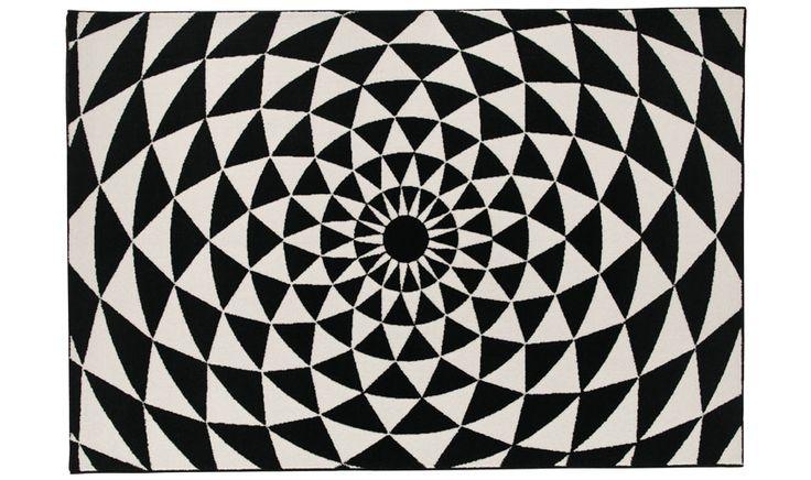 Optical tappeto bianco e nero BIANCANEVE 6240-6S81
