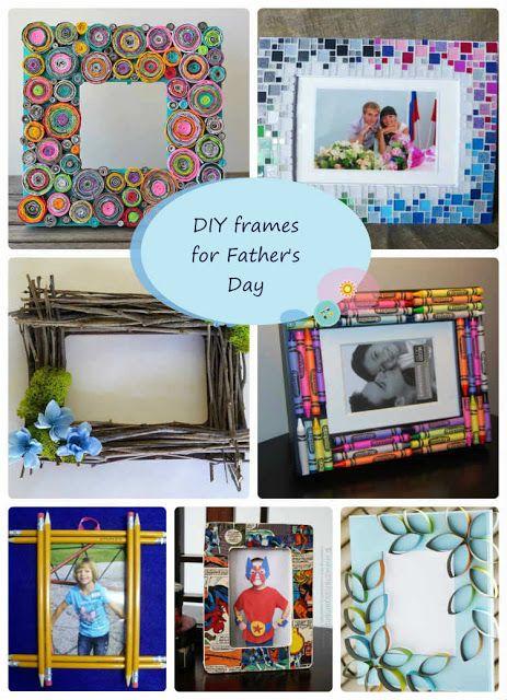 8 ιδέες για DIY κορνίζες που μπορούν να φτιάξουν τα παιδιά για τη Γιορτή του Πατέρα by Despinas Studio