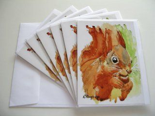 © KLArt.co.uk - Shadow Tail Red Squirrel Cards