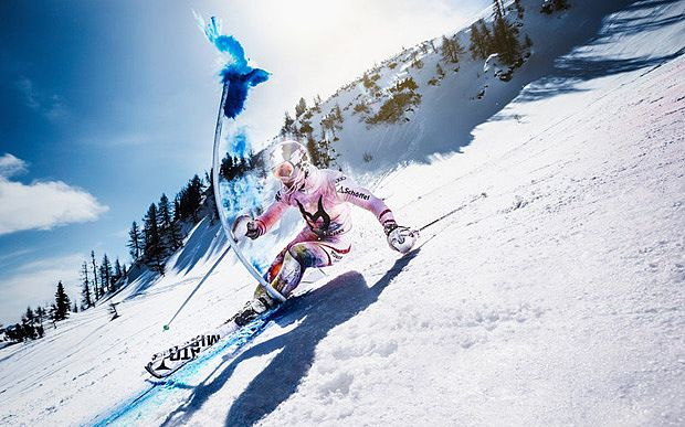 Video: Marcel Hirscher brings skiing to life with beautiful colour run - Telegraph