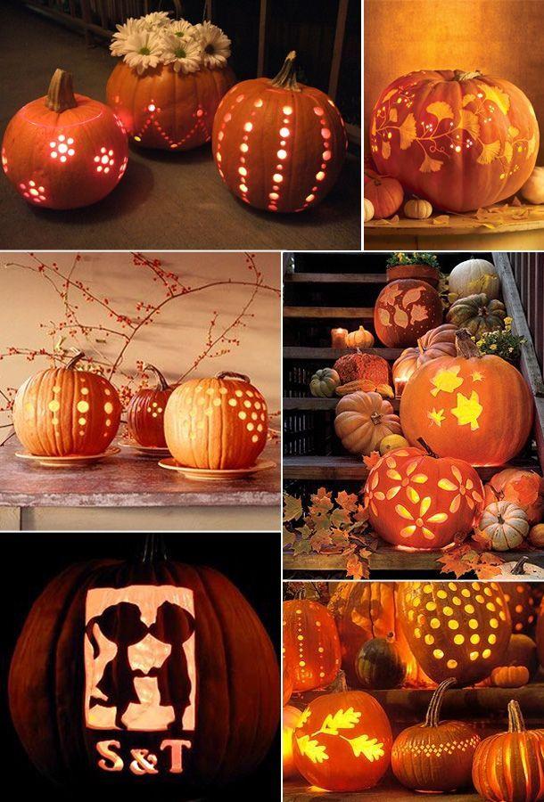 Pumpkin lights.
