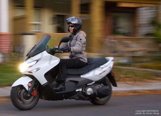 Maxi 500cc KYMCO Scooter- too much fun.