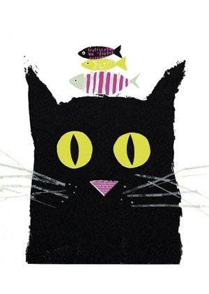 Jane Ormes - Cat with fish on his mind