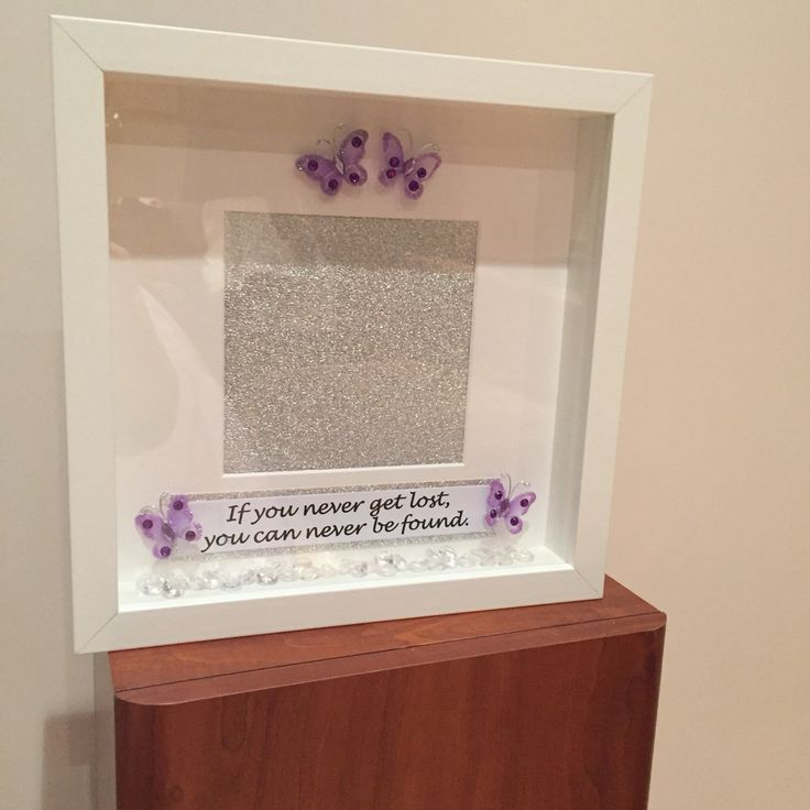 A personal favourite from my Etsy shop https://www.etsy.com/uk/listing/513848083/personalised-photo-frame-butterfly