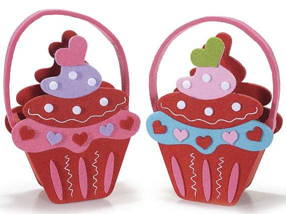 Cupcake Felt Handbag Candy Case