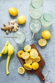 Spicy Ginger Lemonade from /loveandoliveoil/