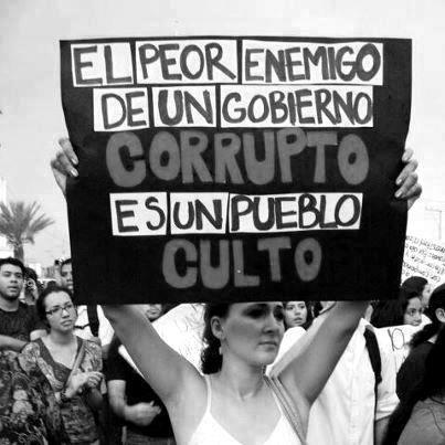 """""""El peor enemigo de un gobierno corrupto es un pueblo culto"""" #DomimgoDeLuto"""