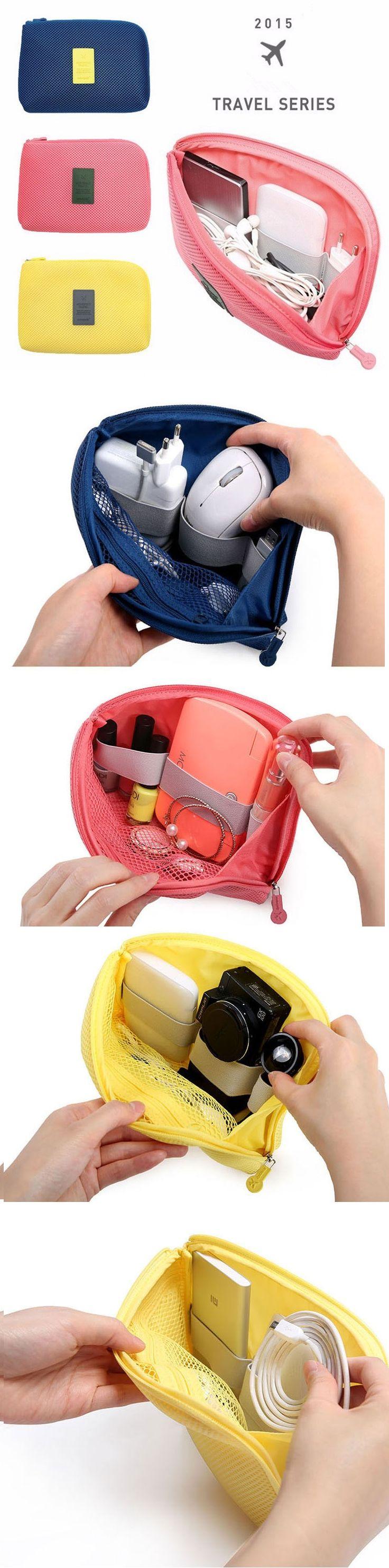 US$2.99 Multifunctional Fashion Travel Storage Bag Digital Data Cable Earphone Holder Organizer