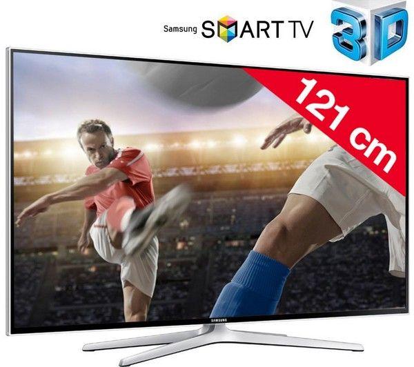 SAMSUNG UE48H6400 - 3D LED-televisie Smart TV   3D-bril actieve sluiter SSG-5100GB | €474.35