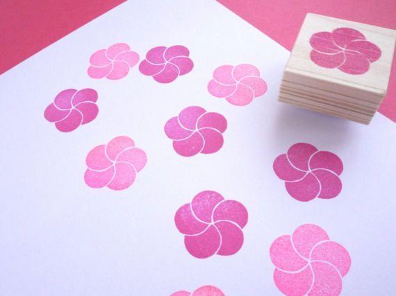 Kersenbloesem stempel, Plum bloesem, Japanse briefpapier, bruiloft boom DIY