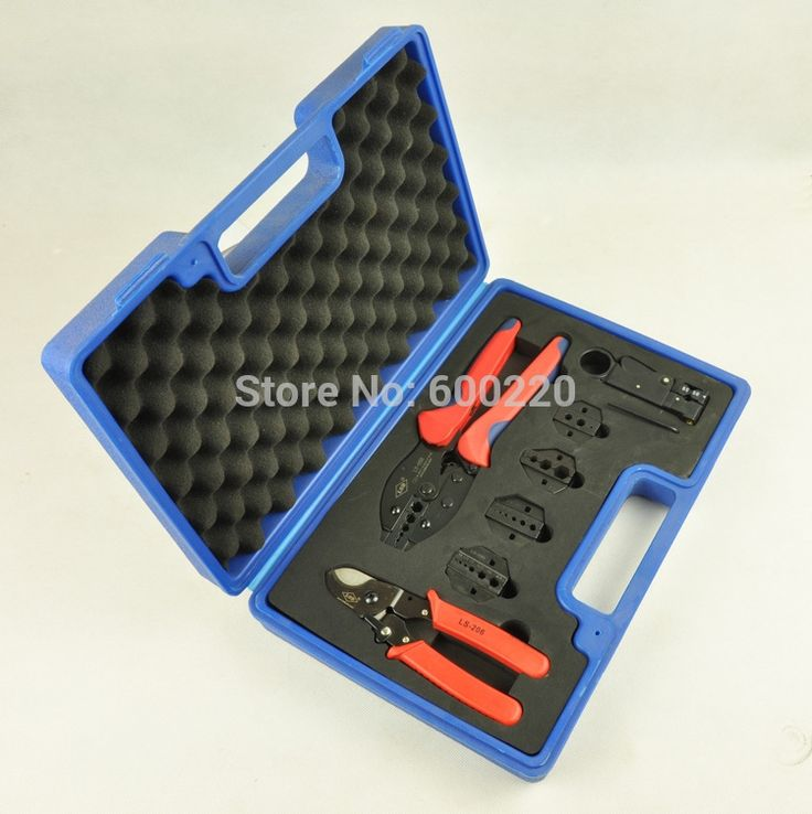 27.66$  Buy here - http://alixkg.shopchina.info/go.php?t=1961076181 - Combination coaxial tool set kit for BNC connector,TV cable RG58,59,6,11 with coaxial crimper,cutter,stripper,exchangeable dies 27.66$ #aliexpress