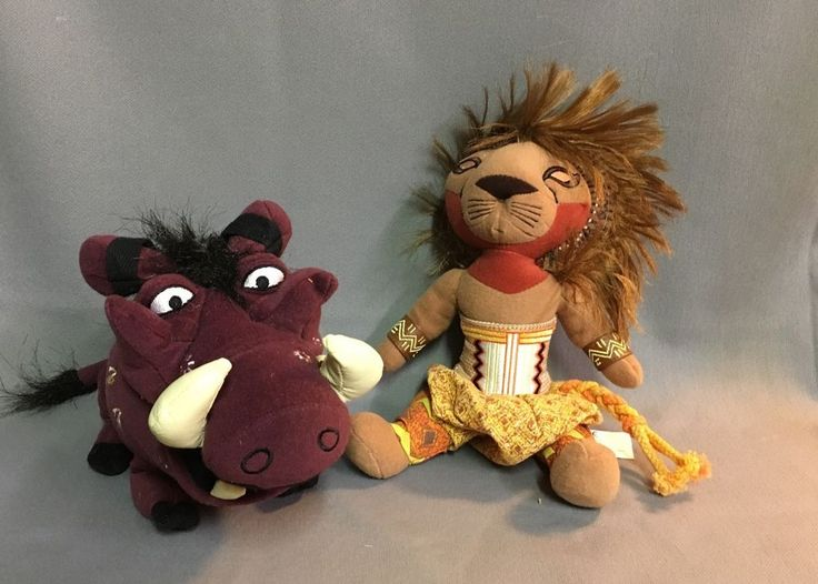 Simba And Pumba Plush - Lion King Broadway Musical #Disney