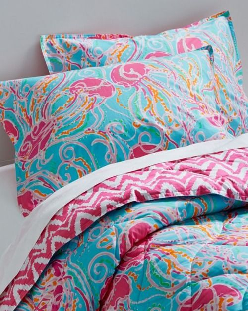 Lilly Pulitzer bedding in Jellies Be Jammin' print. Love!!