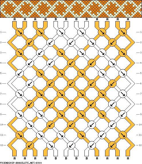 12 strings 12 rows 2 colors