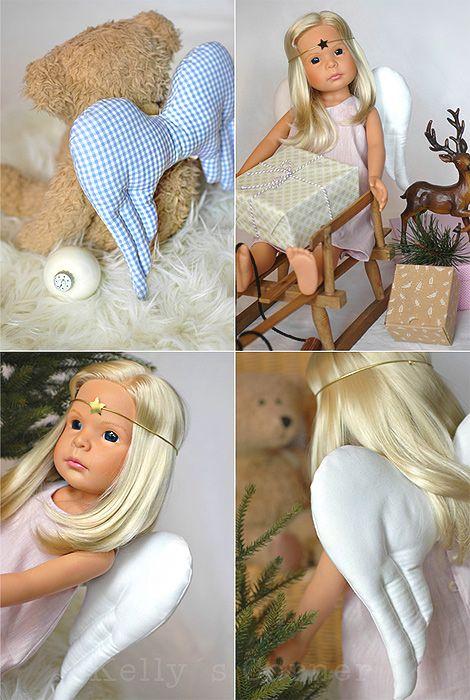 Kostenlose Engelflügel Teddys Puppe Schnittmuster