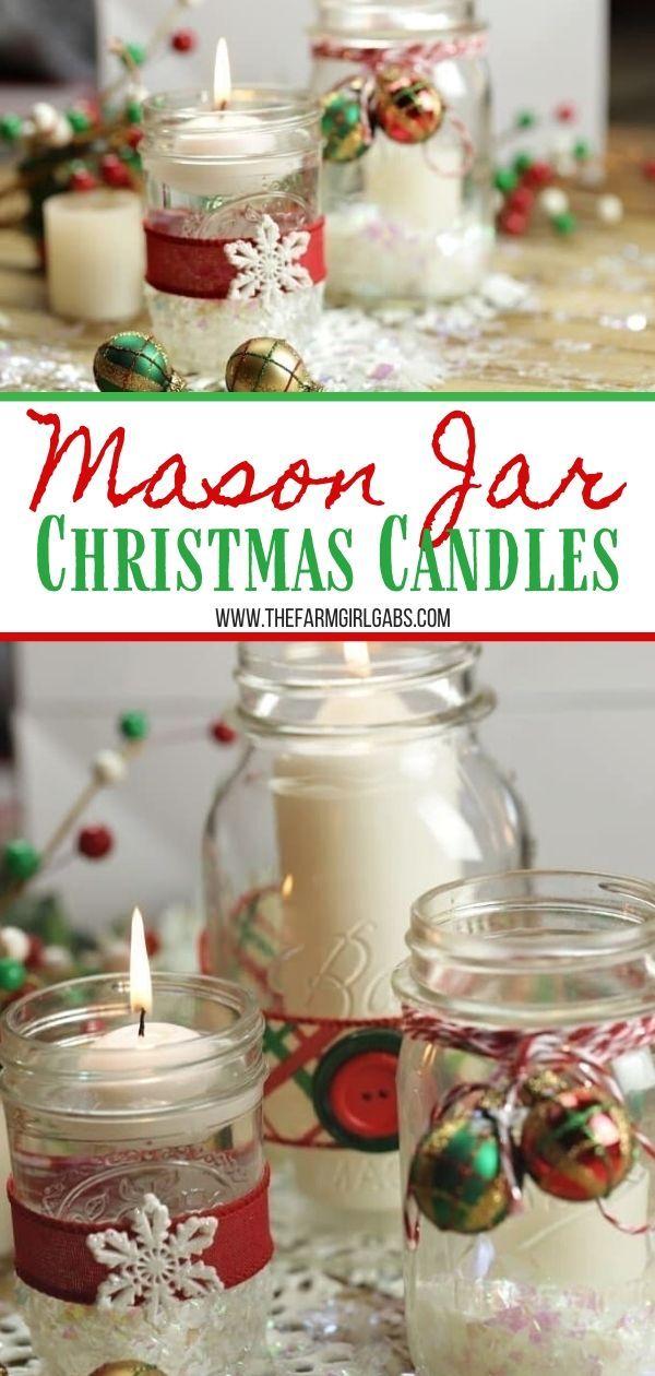 Mason Jar Christmas Candles Inexpensive Diy Christmas Gifts Christmas Mason Jars Christmas Jars
