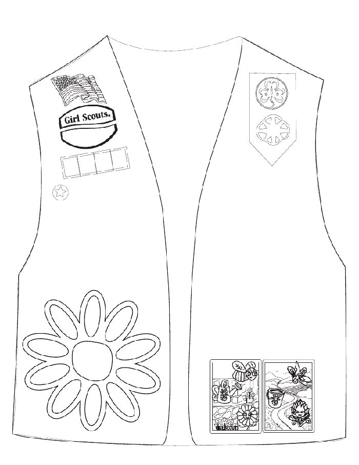 It is an image of Declarative girl scout daisies coloring pages