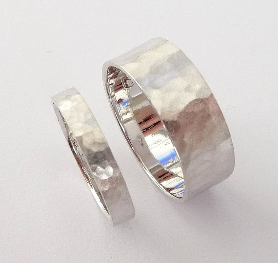 Wedding rings set white gold wedding bands men and by havalazar, $590.00