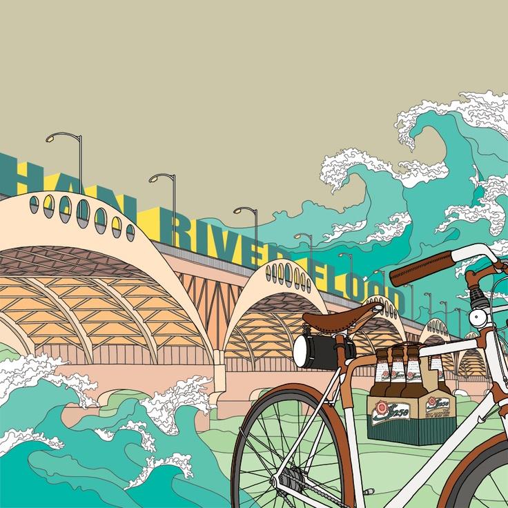 HAN RIVER FLOOD / illustration