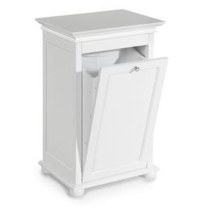 Home Decorators Collection Hampton Bay Tilt-out Hamper Single 17 In. W in White-2601300410 at The Home Depot