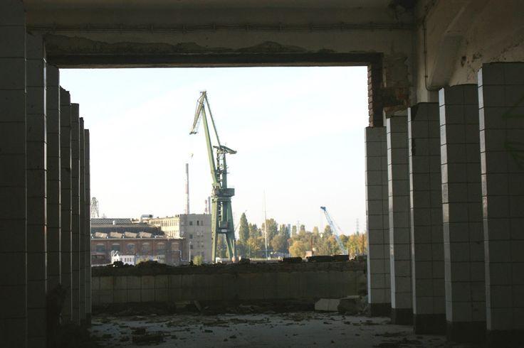 best wiev from bathroom I ever seen (in one of building in Gdansk shipyard)