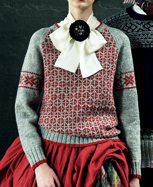 """""""Setesdals Kofte"""" is a traditional pattern used in the official uniform of the national Winter Olympics team of Norway. There seems to be perfection in its beauty and practicality in a pattern everyone can love throughout the ages. The navy and light gray combination comes in handy for all types of wardrobe."""