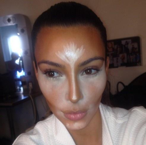 Kim Kardashian Contouring Makeup Scott Barnes