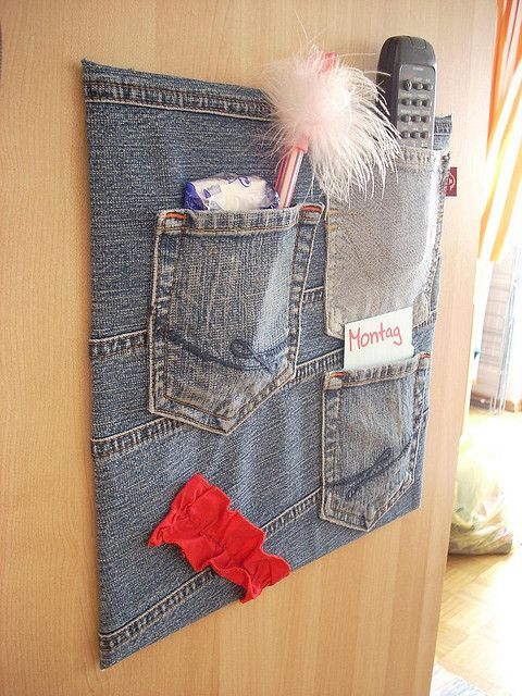 such a cute idea for a bulletin board: Ideas, Recycled Jeans, Craft, Bulletin Board, Blue Jeans, Old Jeans, Kid