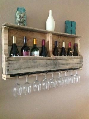Pallet Wine Rack. @taliaprince we need this for the apartment. by lizamona