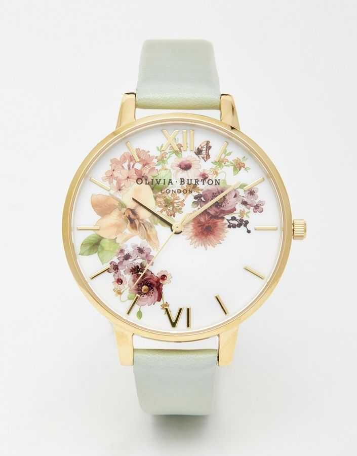 Olivia Burton Big Dial Flower Show Watercolour Watch