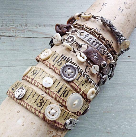 More Nina...OMG, I need to make that little button bracelet! Ok, I need all those!