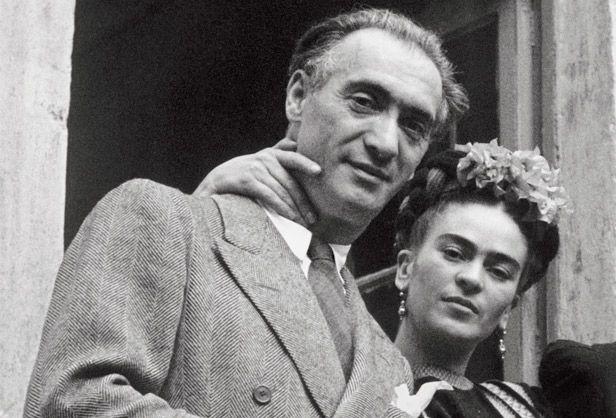 Frida Kahlo avec le photographe Nickolas Muray, son amant, qui fit la plupart de ses portraits célèbres.