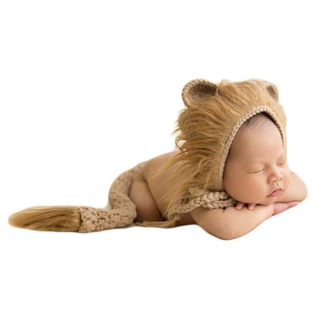 Newborn Baby Photo Prop Boy Girl Photo Shoot Outfits Crochet Knitted Clothes Hat
