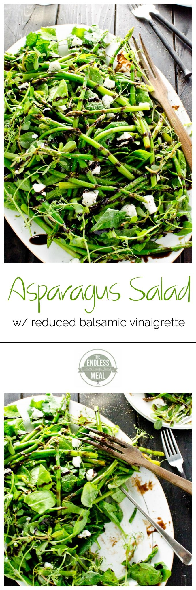 This simple asparagus salad makes an easy and delicious side dish that is naturally paleo and gluten free :: theendlessmeal.com