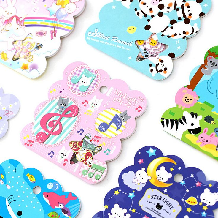 Novelty Animals Cartoon Sealing Stickers Pack Diary Label Stickers Decorative Mobile Stickers Scrapbooking DIY Stickers