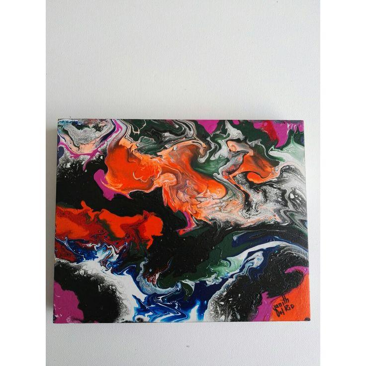 EFECTOS, abstracto sobre MDF, pintado con acrílicos!!!