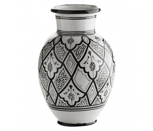 Håndmalt keramikkvase svart traditional - Keramikk Tine K - Kategori
