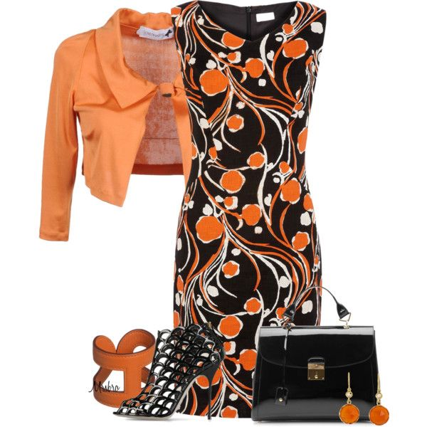 Black and Orange ..., created by mrsbro on Polyvore