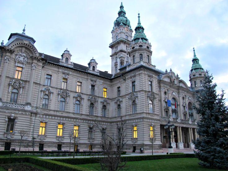 Town Hall in Gyor, Hungary