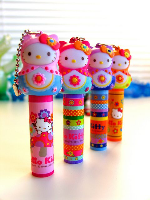 Hello Kitty Matryoshka Lip Gloss by pbrigitte zombuki, via Flickr