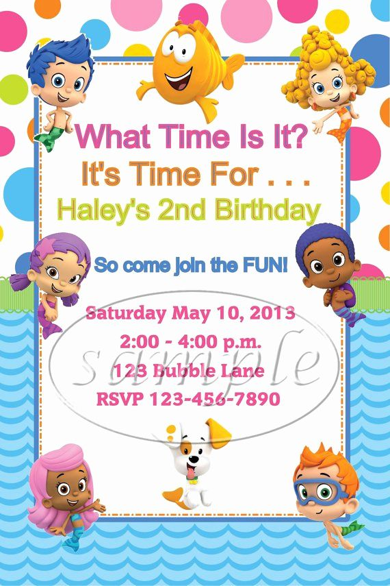 Bubble Guppies Invitation Template Free in 2020 (With ...
