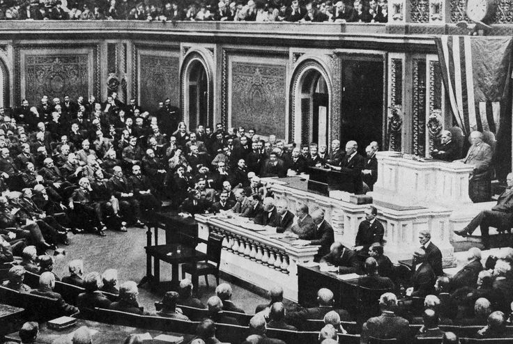 In 70 days in 1917, President Wilson converted from peace advocate to war president