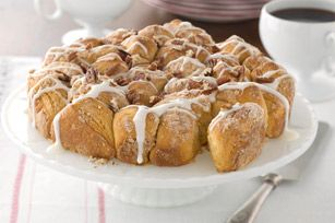 Pull-Apart Coffee Cake Recipe - An easy, speed-scratch version of a pull-apart bread.  This one is flavoured with vanilla and cinnamon.