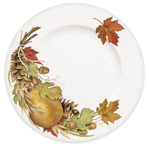 Amazon.com Harvest Bounty Dinner Plate Set of 4 Thanksgiving Salad Plates  sc 1 st  Pinterest & 15 best graphic fall images on Pinterest | Dessert dishes Dessert ...