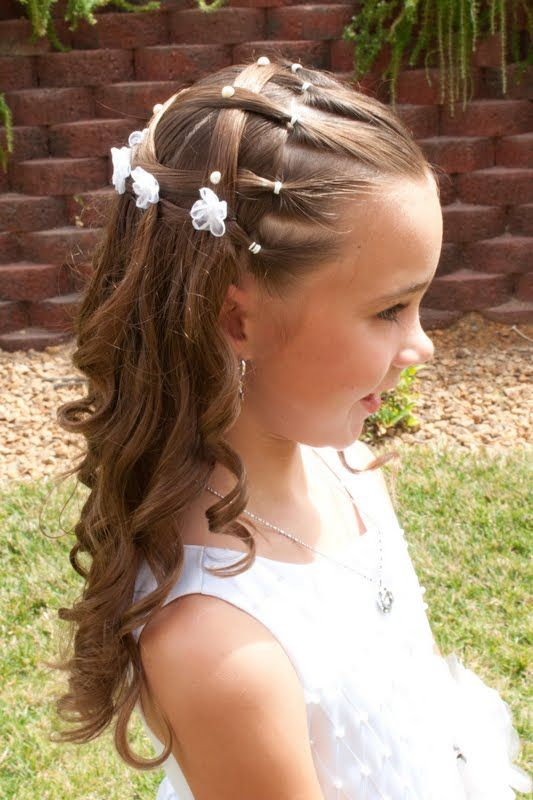 My princess is getting baptized at the end of this week and we wanted to get some pictures taken for the invitations.  This is the hairstyle...