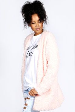 Shelpa Sherpa Chuck On Coat at boohoo.com