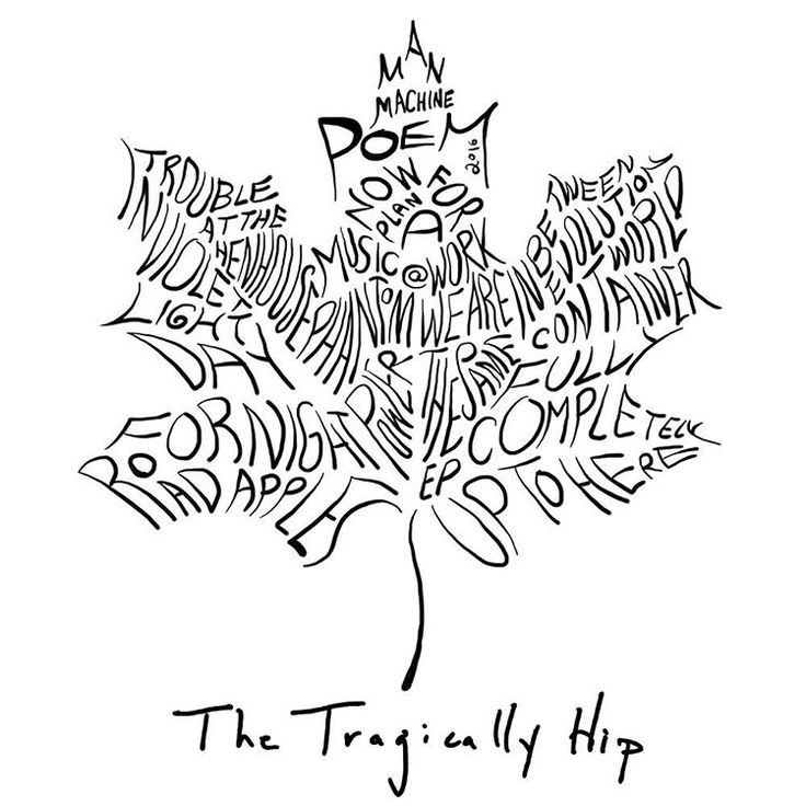 The Tragically Hip - a logo of album titles