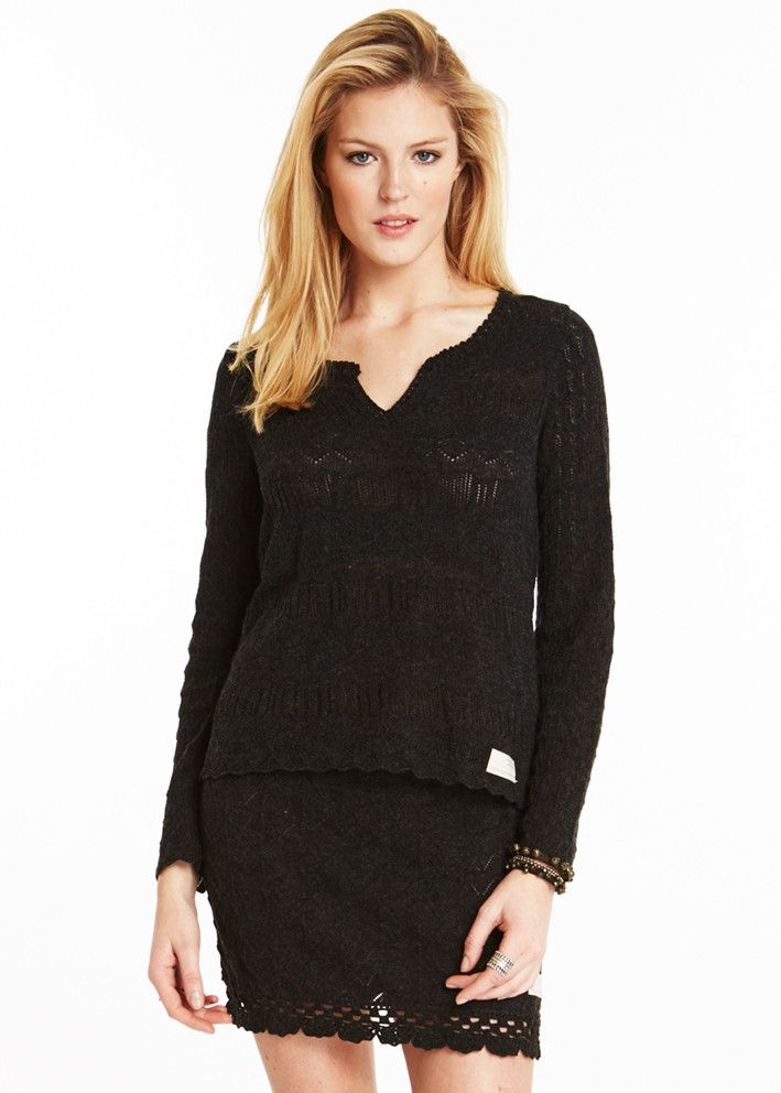 Odd Molly Paracute Sweater 715M-402 almost black – acorns
