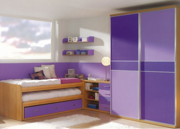 Bring the kids room to life with the purple sliding wardrobe...      #colorful #interior #wardrobe #color #wardrobestylist #colors #closet #decor #homedecor #interior4all #creative #rainbow #decoration #colour #furniture #interiors #webstagram #interiør #all_shots #instacool #orange #diy #painting #myhome #purple #london #homedesign #instago #interiorstyling #bedroom
